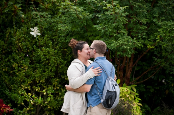 Surprise engagement at Seattle Center by Darrah Parker Photography #seattleengagementphotography
